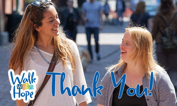 photo of Azin and Amanda and the word Thank You