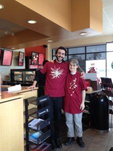 John at Starbucks