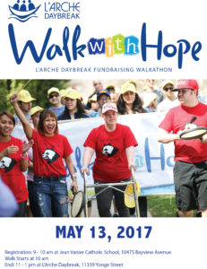 May 13 is the Walk WITH Hope 2017!
